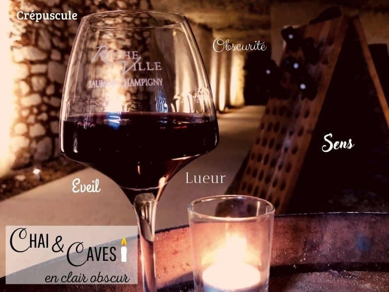 night cellar visit at Domaine de Rocheville